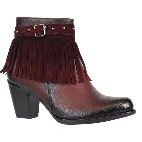 Nstep 44057 Zn Püsküllü Termal Bayan Kışlık Bot Ayakkabı