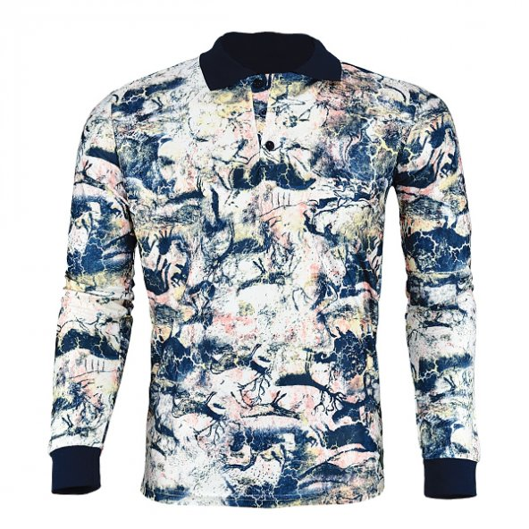 4007 Afrika Desen Uzun Kol Sweatshirt L