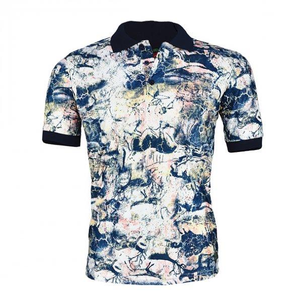 4008 Afrika Desen Kısa Kol T-Shirt M