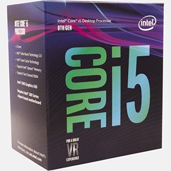 INTEL 1151p v2 Core i5 (Ci5) 8400 2.8ghz 9mb Retail Kutulu