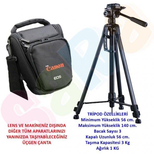 Canon 140cm Tripod Tripot + DSLR Omuz Çanta 1300D 1200D 700D 650D