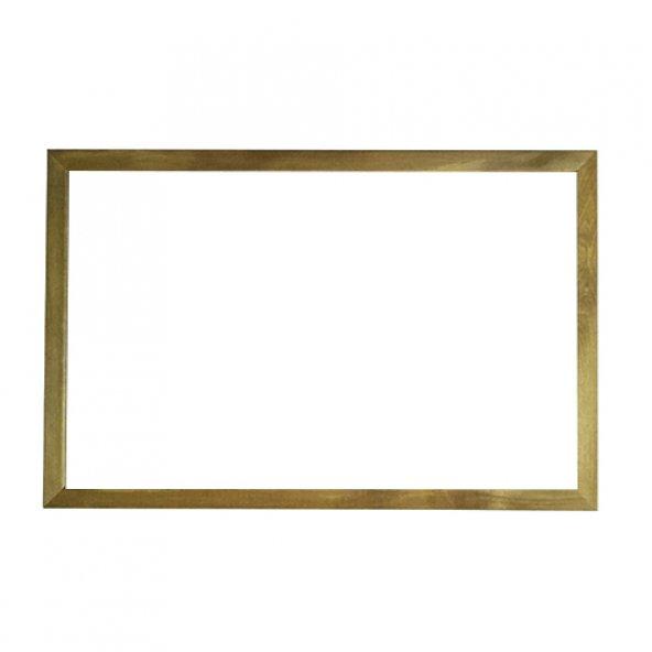 Vivekka 100x140 Duvara Monte Ahşap Çerçeve Laminat Beyaz Yazı Tahtası