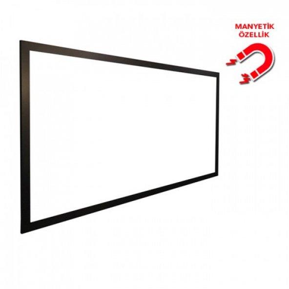 Vivekka 100x140 MDF Duvara Monte Çerçeve Manyetik Beyaz Yazı Tahtası