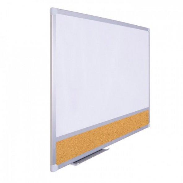 Vivekka 100x130 Duvara Monte Laminat Beyaz Kombine Yazı Tahtası