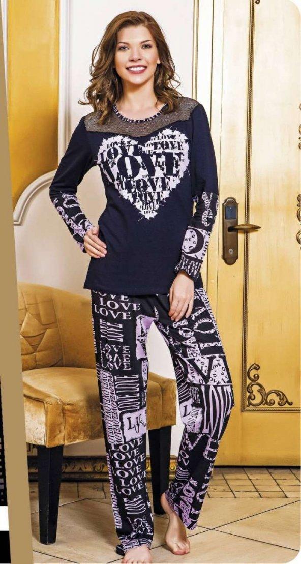 Lady Kalp Desenli Pijama Takımı