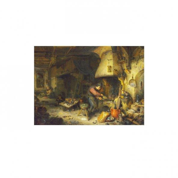 Adriaen Van Ostade - An Alchemist 50x70 cm