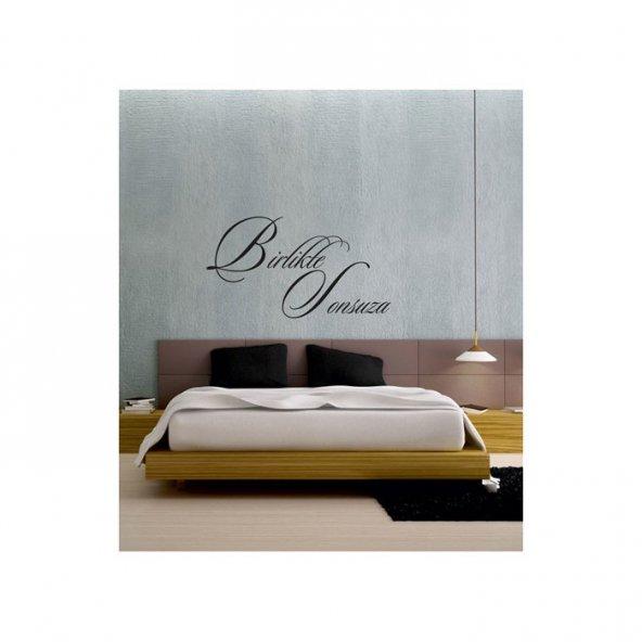 Sonsuza Duvar Yazısı 110x57 cm, Duvar Yazı Sticker, Yazı Sticker,