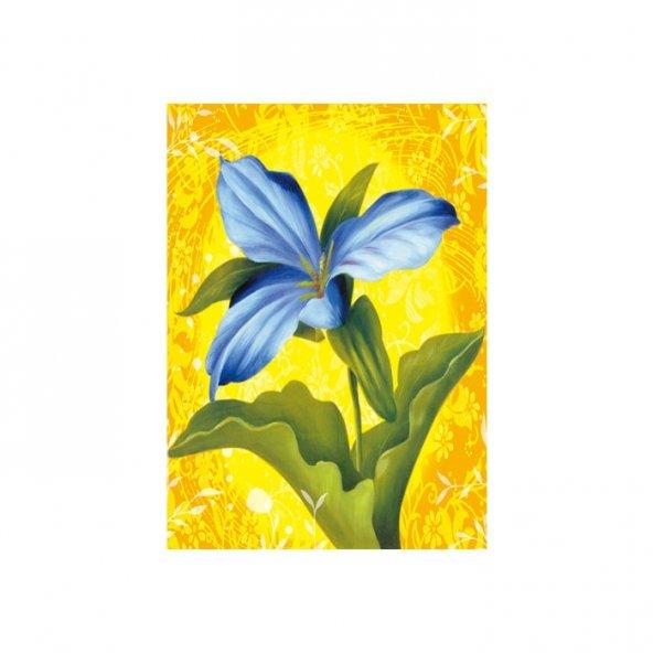 Blue Flower Kanvas Tablo 50X70 Cm