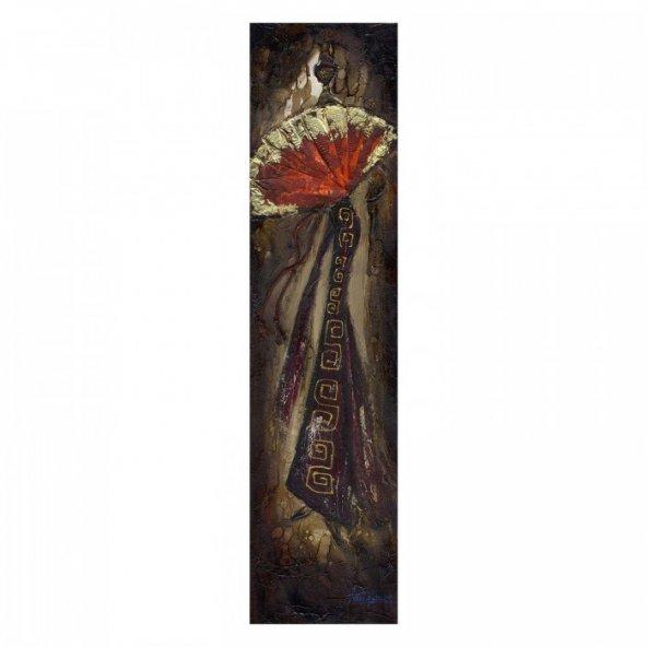 Woman-3 25x120 cm Kanvas Tablo