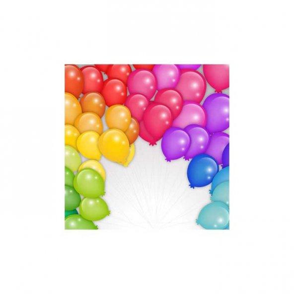 Renkli Balonlar Bulaşık Makinesi Sticker