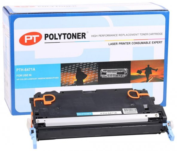 HP Q6471A Polytoner Mavi LaserJet 3600dn-3800n-CP3505 (CRG-711)