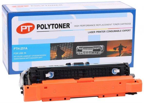HP CE251A Polytoner Mavi Toner CP3525-CM3530 Canon (CRG 723) LBP