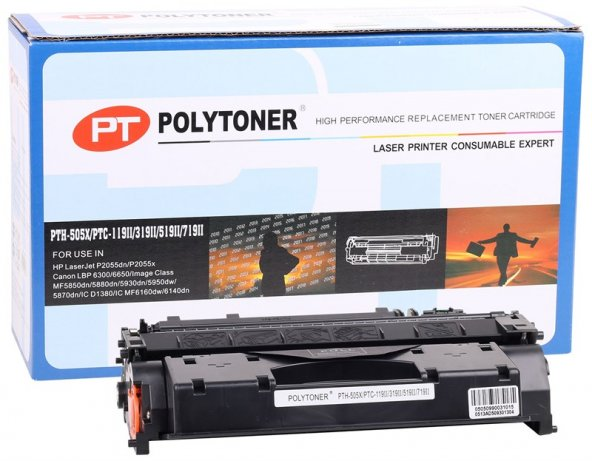 HP CE505X Polytoner P2055 Canon LBP6300-6650-MF5850-5880-CRG719H-