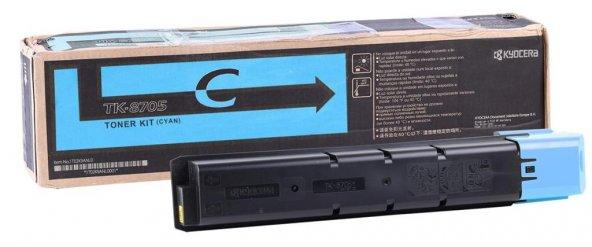 Kyocera Mita TK-8705 Orjinal Mavi Toner Taskalfa 6550ci-7550ci