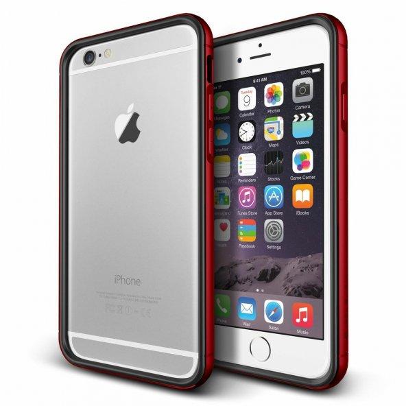 Verus iPhone 6 Plus/6S Plus Iron Bumper Kılıf Black Kiss Red