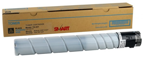 Konica Minolta TN-221 Smart Siyah Toner  Bizhub C227-C287 (A8K335