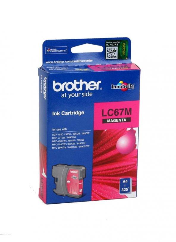 Brother LC-67Y Orjinal Kırmızı Toner (185-385-395-5490-5890-6490)