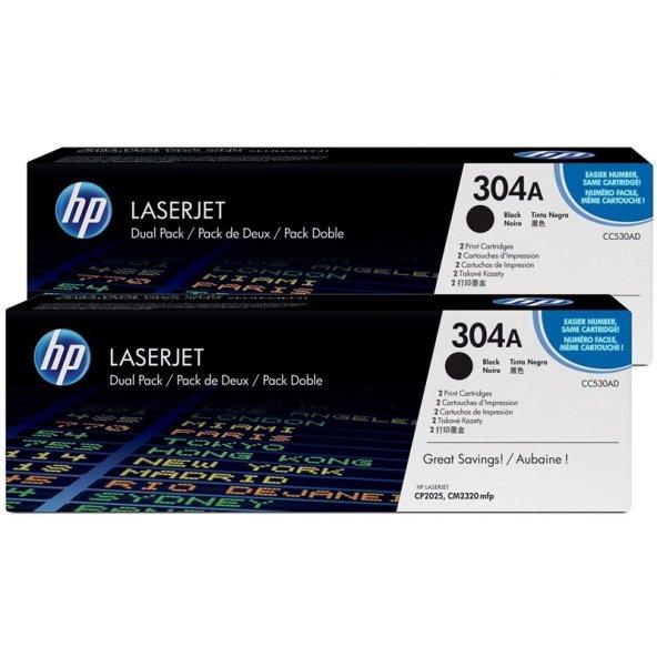 HP CC530AD (304AD) (ÇİFTLİ) Orjinal Siyah Toner