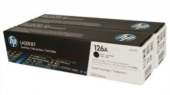HP CE310AD (126A) (ÇİFTLİ) Orjinal Siyah Toner