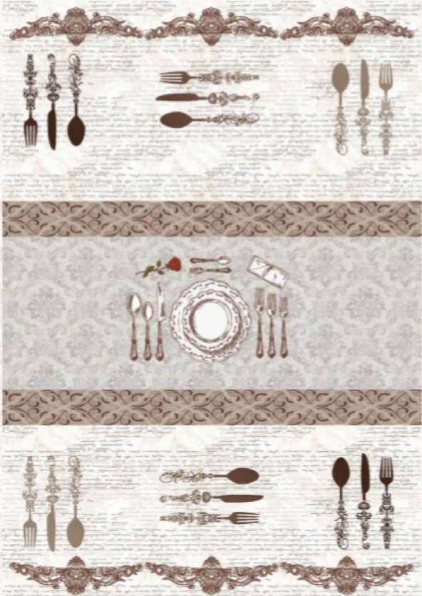 Brillant Latex Halı Dinner 100x160 (1.6 M.Kare) HL11192.102