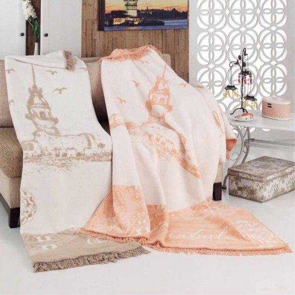 Aksu Pamuklu Battaniye 180x220 Kutulu - Boğaziçi Pudra
