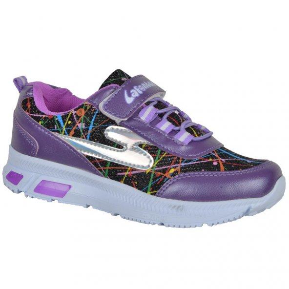 Lafonten D-1672 Cırtlı Rahat Günlük Kız Çocuk Spor Ayakkabı