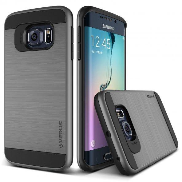 Verus Galaxy S6 Edge Case Verge Series Kılıf Steel Silver