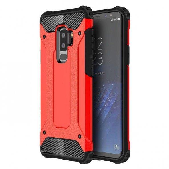 Samsung Galaxy S9 Kılıf Armor Kırmızı