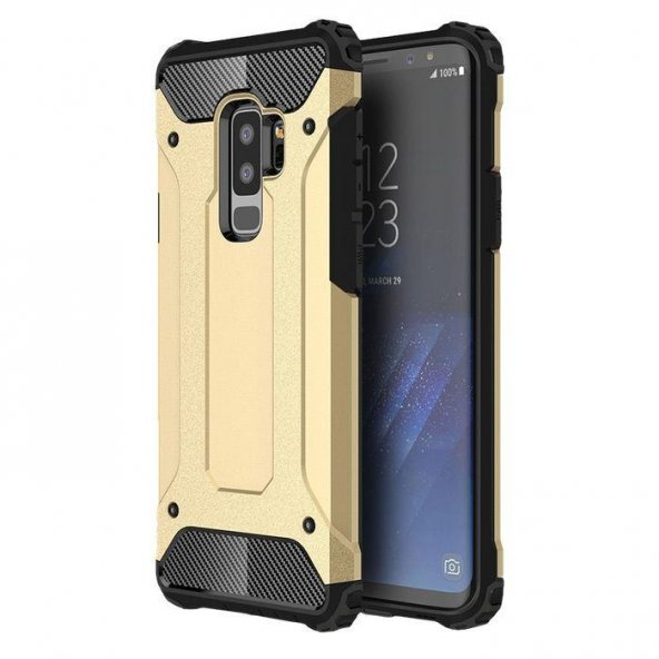 Samsung Galaxy S9 Plus Kılıf Armor Gold