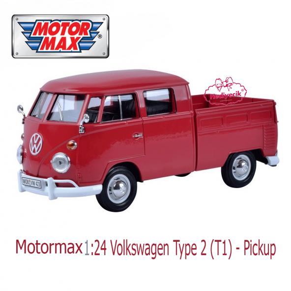 Motormax 1:24 Volkswagen Type 2 T1 Pickup