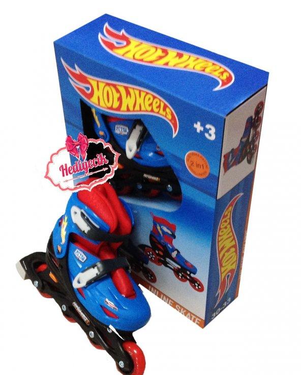 Hot Wheels Ayarlanabilir Çocuk Pateni 30 -33 Alıştırma Tekerli