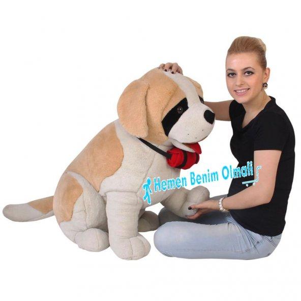 Peluş Köpek Oturan Saınt Bernard 92 Cm