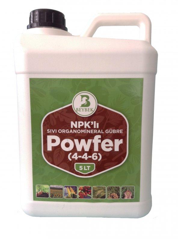 Beybek Powfer Sıvı Organomineral Bitki Besini Gübre 5 Litre
