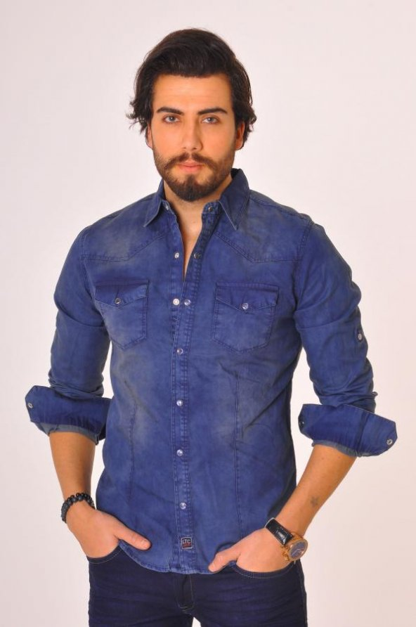6860-203-1227 mavi gömlek