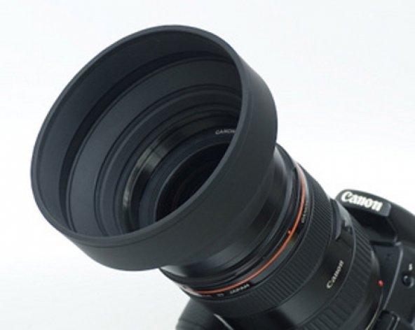 58mm ÜÇ KADEMELİ KAUÇUK LENS HOOD (Parasoley)