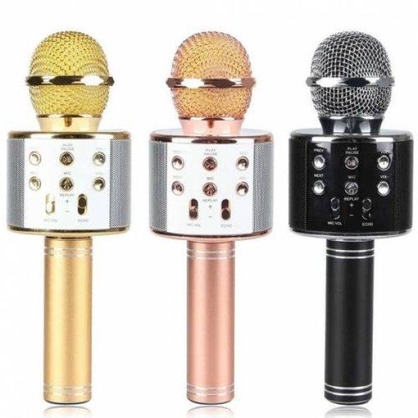 WS-858 Karaoke Bluetooth Mikrofon ve Taşınabilir Hoparlör