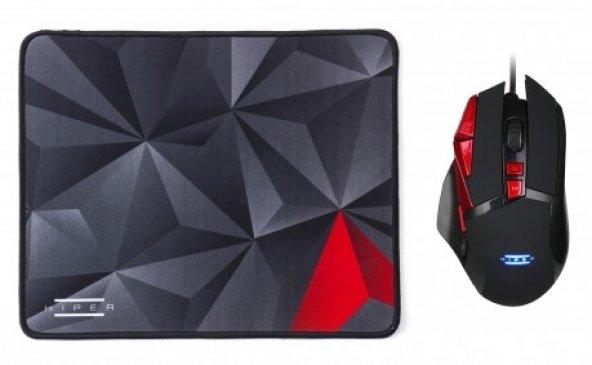 HIPER HELL BREAKER X10 Gaming Mouse/Mouse Pad SET (Programlanabil