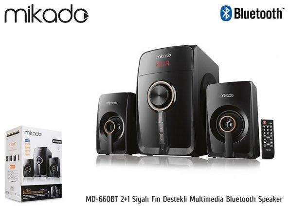 Mikado MD-660BT 2+1 Siyah Fm Destekli Multimedia Bluetooth Speake