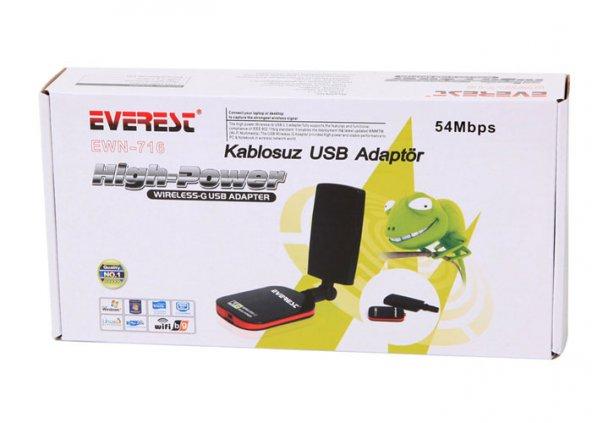 Everest EWN-716 54 Mbps Kablosuz Adaptör