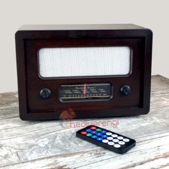 Nostaljik Ahşap Gerçek Radyo Büyük Boy (Mp3 Çalar)