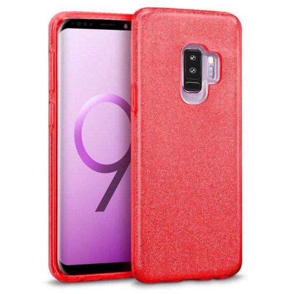 Samsung Galaxy S9 Plus Kılıf Shining Kırmızı Silikon