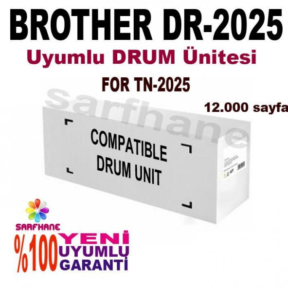 Brother DRUM Ünitesi Ünitesi DCP-7010/DCP-7020/DCP-7025, DR-2025