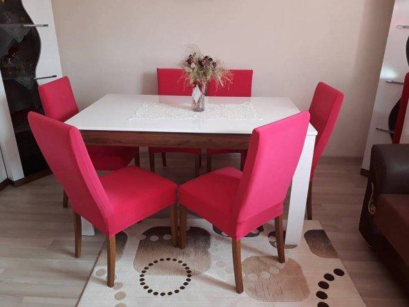 Nur Home Şeker Pembesi Renk Sandalye Kılıfı (Renk-14)