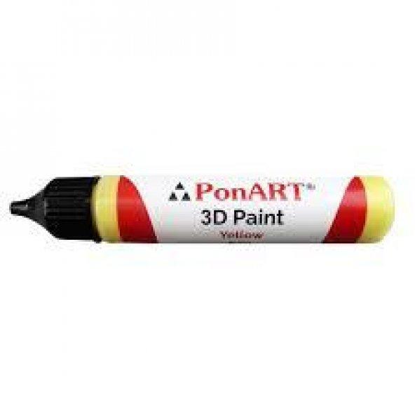 Ponart 3d Paint Boyutlu Boncuk Boyası 30ml. Beyaz