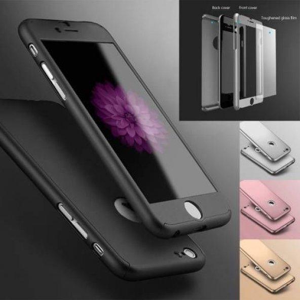 iPhone 5 6 7 8 X Plus Kılıf 360 Tam Koruma Ön Arka Kapak