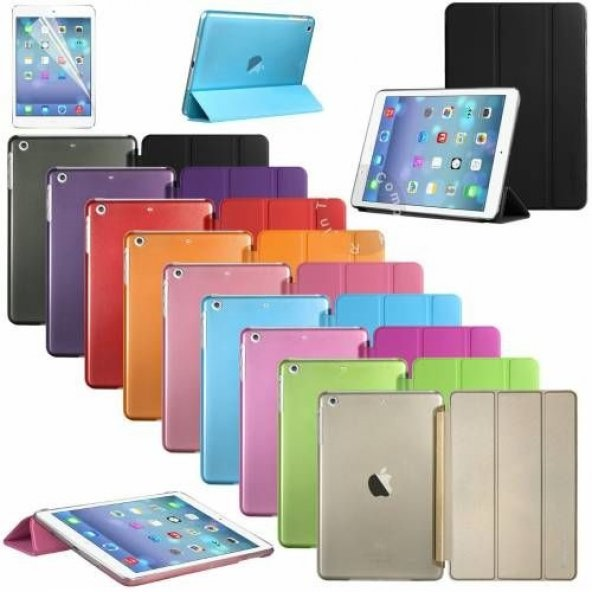 iPad 9,7 2017 5.Nesil A1822 Kılıf Smart Cover Akıllı Standlı