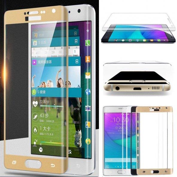 Samsung Galaxy Note 4 Edge Kavisli Ekran Koruyucu !! 4 RENK !