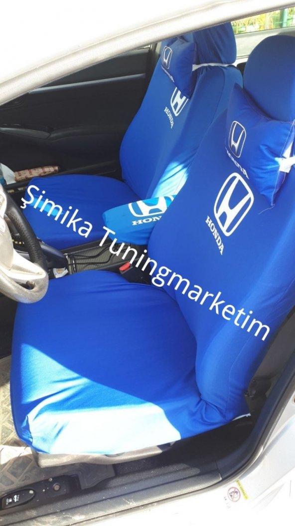 Honda ÖN VE ARKA SERVİS KOLTUK KILIF + 2Lİ YASTIK+2li kemer