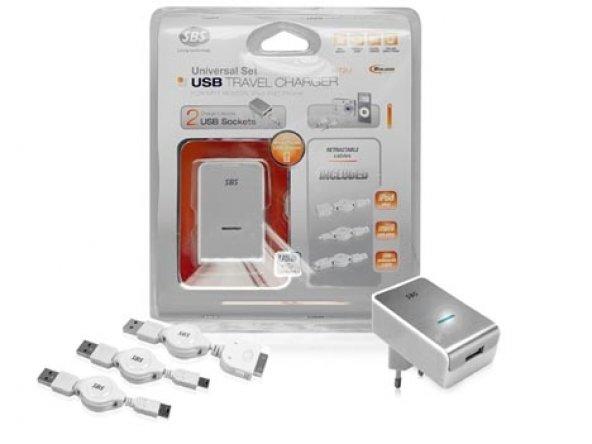 SBS MT2U ÇİFT USB iphone ipod ipad şarjı seyahat iPhone İpod şarj