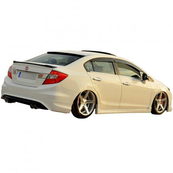 Honda Civic (2012-2016) Difüzörlü Özel Tasarım Arka Karlık (Boyalı)